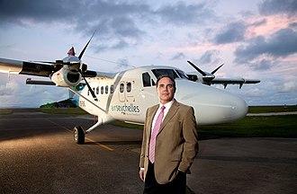 Air Seychelles - Roy Kinnear, the Air Seychelles Chief Executive Officer.