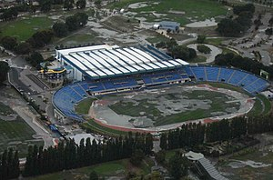 Queen Elizabeth II Park - Image: CHCH City Stadium 1
