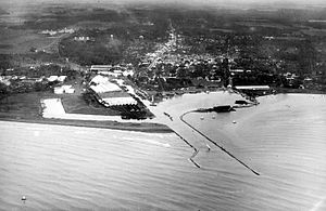 Tegal, Central Java - Aerial view of Tegal (date unknown)