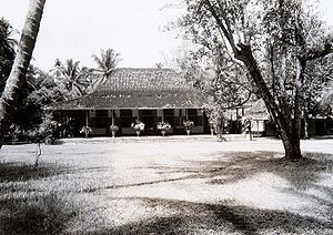 Javanese traditional house - Landhuis Depan in Batavia is a Dutch Indies country houses which had completely assimilated with the Javanese house style.