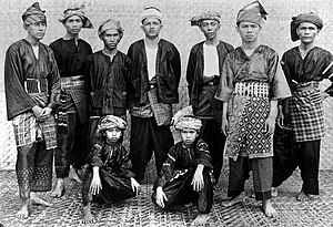 West Sumatra - Minangkabau West Sumatran men in traditional clothing