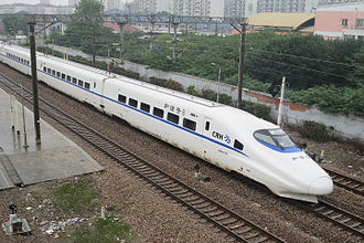 Jinshan Railway - A CRH2A trainset running from Jinshanwei