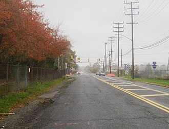 County Route 537 (New Jersey) - Signage for CR 537 at its eastern terminus along Oceanport Avenue (CR 11)