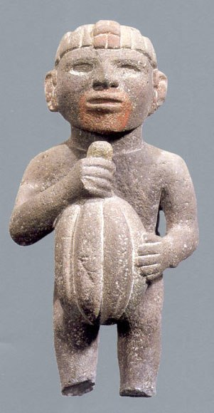 Cacao Aztec Sculpture