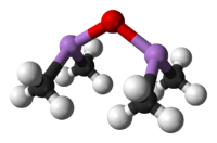 Ball-and-stick model of cacodyl oxide