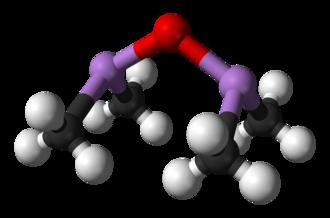 Cacodyl oxide - Image: Cacodyl oxide 3D balls