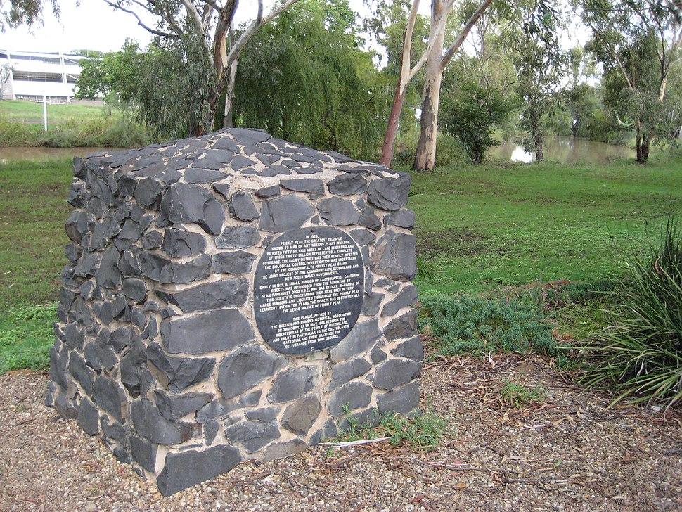 Cactoblastis monument, Dalby, Queensland, Australia