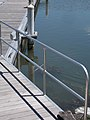 Cadran Yacht Marina, footbridge railing, 2018 Ráckeve.jpg