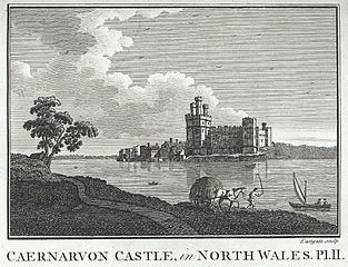 Caernarvon Castle, in north Wales
