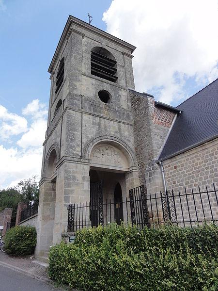 Caillouël-Crépigny (Aisne) église Saint-Pierre, tour