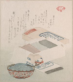 Nori - Cakes and Food Made of Seaweed by Kubo Shunman, 19th century