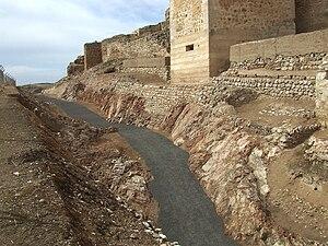 Calatrava la Vieja - Guadiana river over the castle.