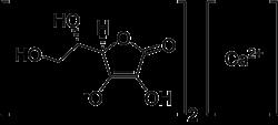Strukturformel von Calciumascorbat