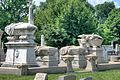 Calder's statues at Warner complex, Laurel Hill Cemetery.jpg