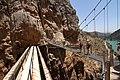 Caminito del Rey, nuevo puente colgante, junto al puente acueducto de Ribera.jpg