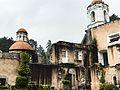 Campanario y cúpula de capilla vista desde el claustro del ex Convento.jpg