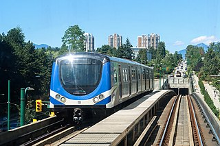 Canada Line line on the Vancouver mass rapid transit