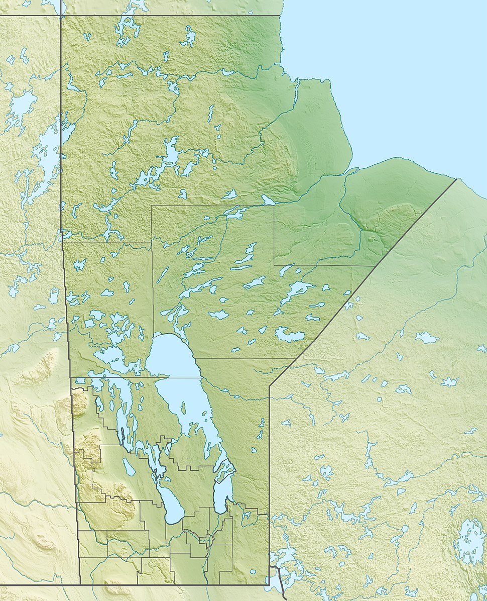 Canada Manitoba relief location map