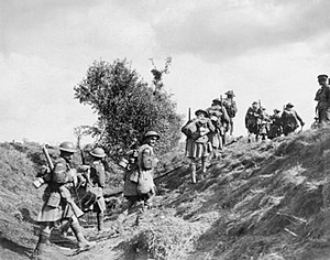 16th Battalion (Canadian Scottish), CEF - Canadian Scottish advancing near Inchy during the Battle of the Canal du Nord, 27 September 1918