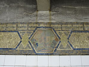 Canal Street (IRT Broadway–Seventh Avenue Line) - Mosaic of St. John's Chapel