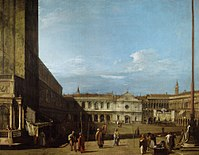 Canaletto - Piazza San Marco looking west towards San Geminiano RCIN 405935.jpg