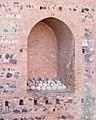 Cannon balls in a niche, Alhambra, Granada, Andalusia, Spain.jpg