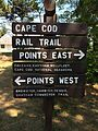 Cape Cod Rail Trail Sign at Nickerson Park.JPG
