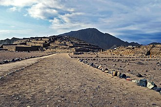 Remains of a Norte Chico pyramid in the arid Supe Valley Caral-25.jpg