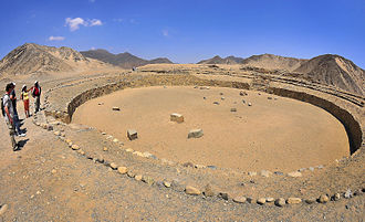 Norte Chico civilization - Round square of the Norte Chico civilization