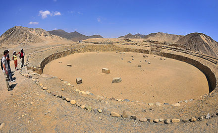 The ancient city of Caral Caral-Supe in Peru.jpg