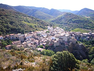 Caramany - A view of the village from the rock of Bade