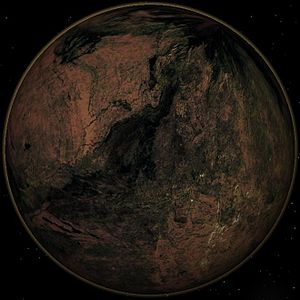 Terrestrial planet - Artist's impression of a carbon planet