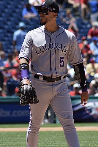 Carlos González (baseball) - González with the Colorado Rockies in 2018