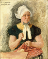 Carl Ludwig Jessen - Young woman from Deetzbüll, sowing - 1883.png