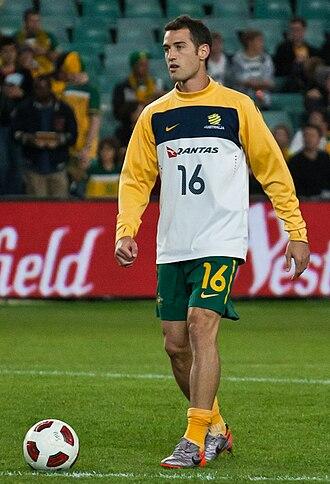 Carl Valeri - Valeri playing for Australia in 2010.