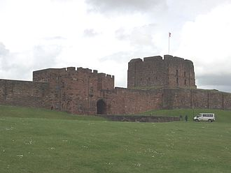 Battle of the Standard - Carlisle Castle was rebuilt by King David, and became one of his chief residences.