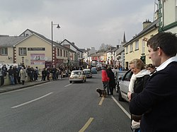 Hauptstraße in Carrick-on-Shannon amSt. Patrick's Day 2015