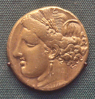 Carthaginian currency - Image: Carthage Electrum Coin 250BCE