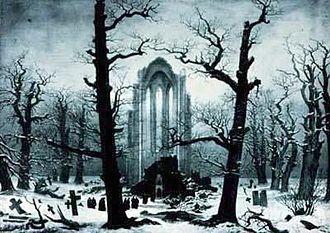 Cairn in Snow - Image: Caspar David Friedrich 049