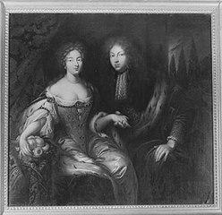 Markgraf Johann Friedrich von Brandenburg-Ansbach und seine Braut Eleonore Erdmuthe Luise von Sachsen-Eisenach (Werkstatt?)