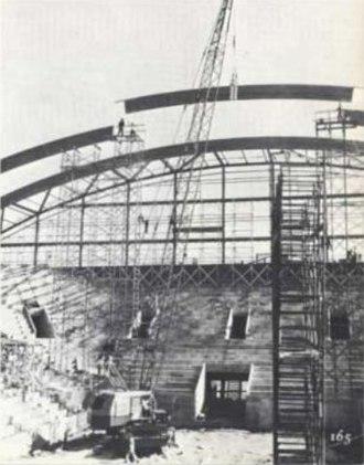 Cassell Coliseum - Cassell Coliseum under construction.