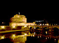 Castel Sant'Angelo (Rome) and Tiber at night.jpg