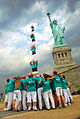 Castellers de Vilafranca a l'Estatua de la LLibertat.jpg