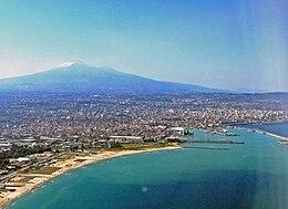 Panorama aereo di Catania