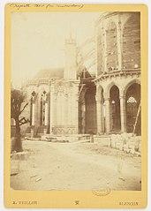 Photographie de la chapelle nord en cours de construction de la cathédrale de Sées