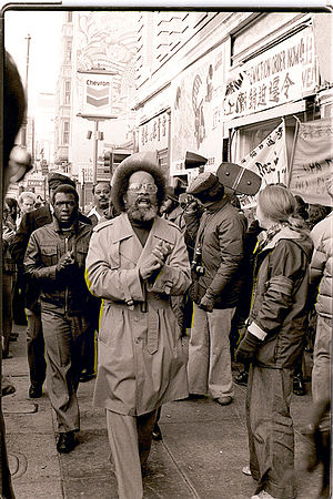 Cecil Williams (pastor) - Cecil Williams at the International Hotel anti-eviction protest in San Francisco's Chinatown January 1977 in support of the tenants.