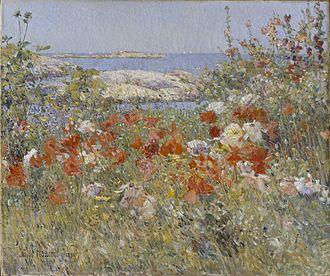 Celia Thaxter - Celia Thaxter's Garden, 1890, by Childe Hassam