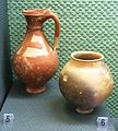 Celtic painted flagon and beaker 1st cBC Budapest IMG 1076.JPG