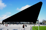 Blacked out Rotterdam Centraal railway station