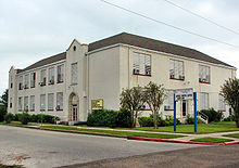 The 1894 Central High School building and attached former branch of the  Rosenberg Library for African Americans.